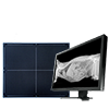 Direct digital radiography ClaroX DR. High technology flat panel and veterinary specific software.  Companion animals.
