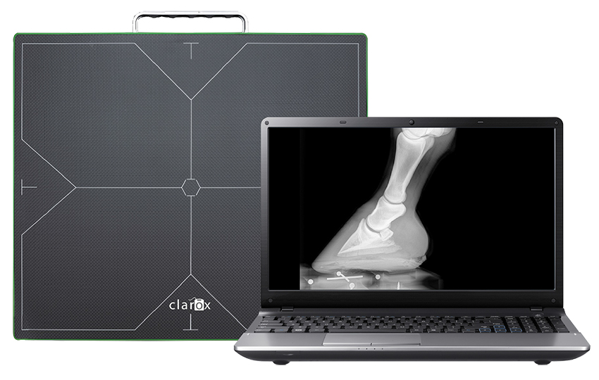 Digital direct radiography system ClaroX DR Mixto Wireless for companion animals and equine